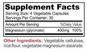 magnesium glycinate supplement facts