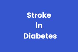 stroke in diabetes